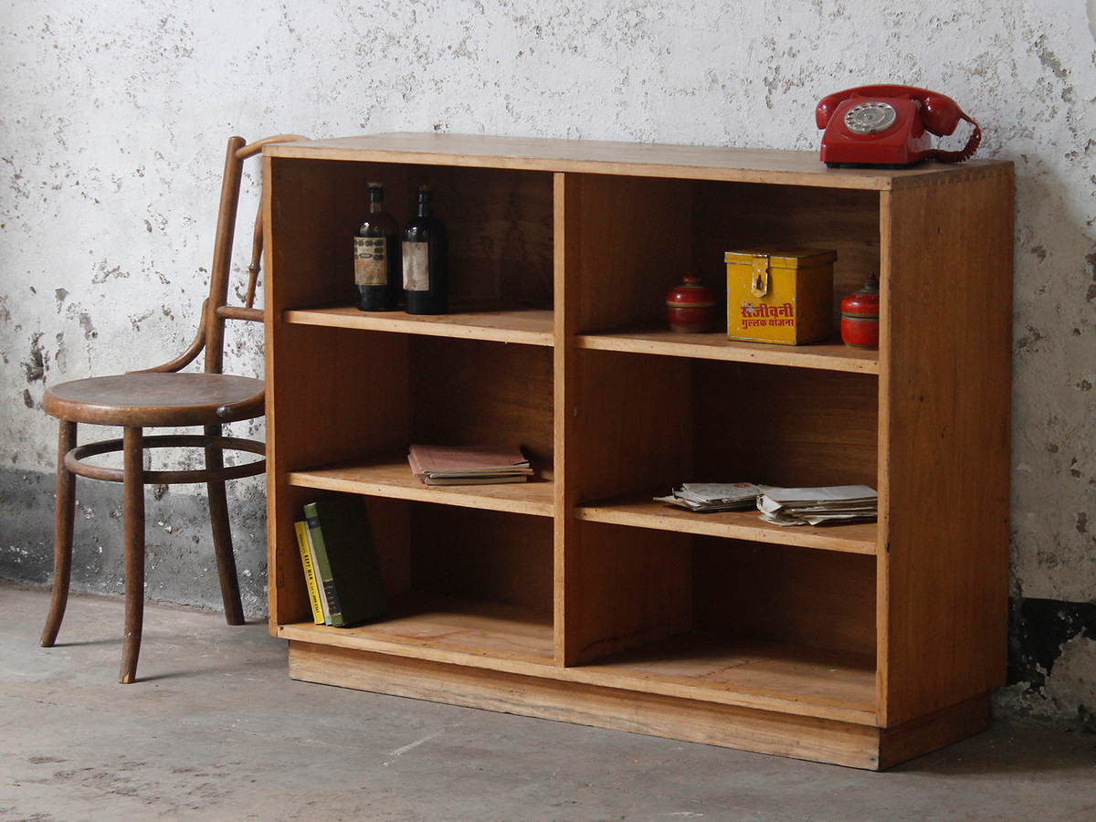 School Wooden Cabinets ~ Old school wooden oak bookcase by scaramanga