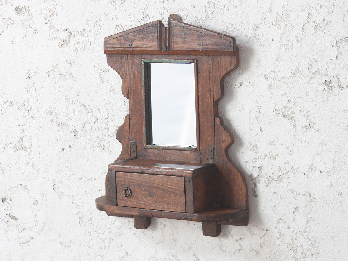 Ornate Vanity Mirror Vintage Wooden Mirrors Scaramanga