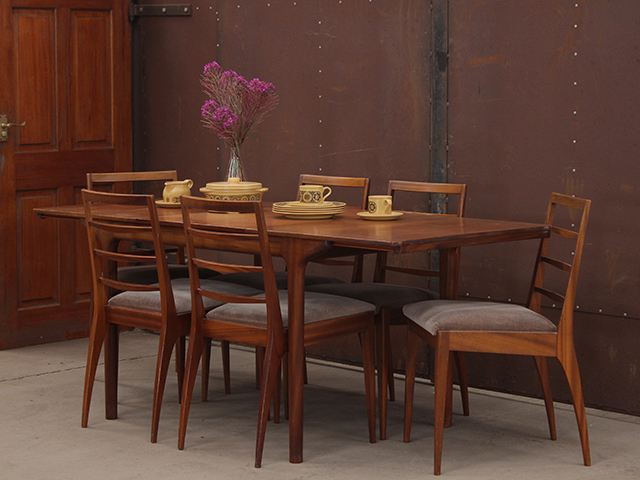 Retro Dining Table and Chairs by McIntosh Vintage Tables Desks