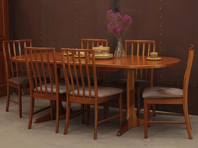 Retro Teak Dining Table Wooden Table Scaramanga