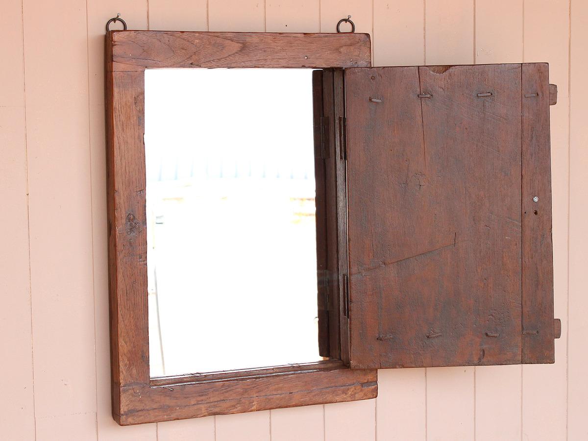 Rustic shutter mirror wooden mirrors scaramanga for Rustic mirror