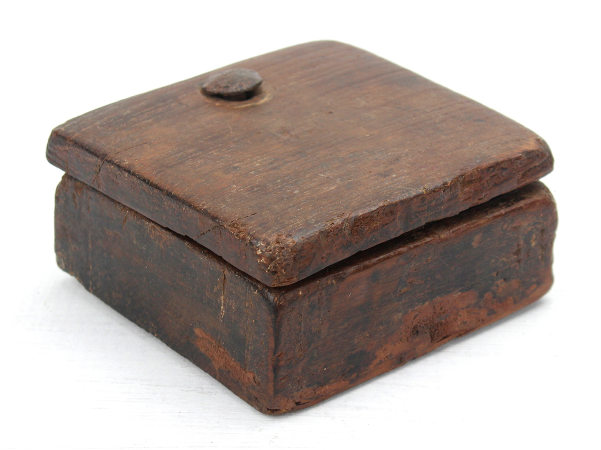 Rustic Square Spice Box At Scaramanga