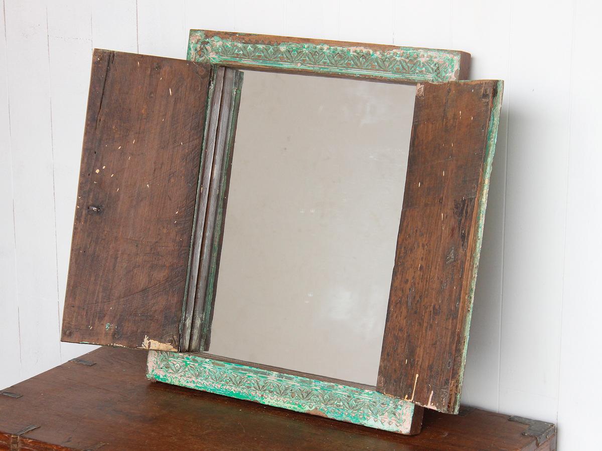 Vintage Bathroom Mirror - Wooden Mirrors - Scaramanga