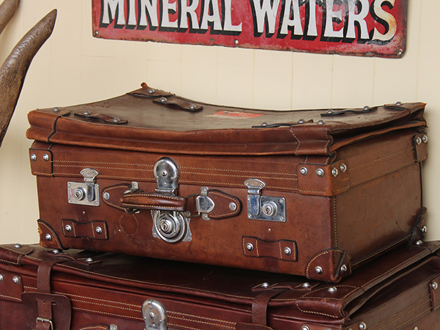 Vintage & Antique Leather Suitcases Used 6 Different Ways » Scaramanga