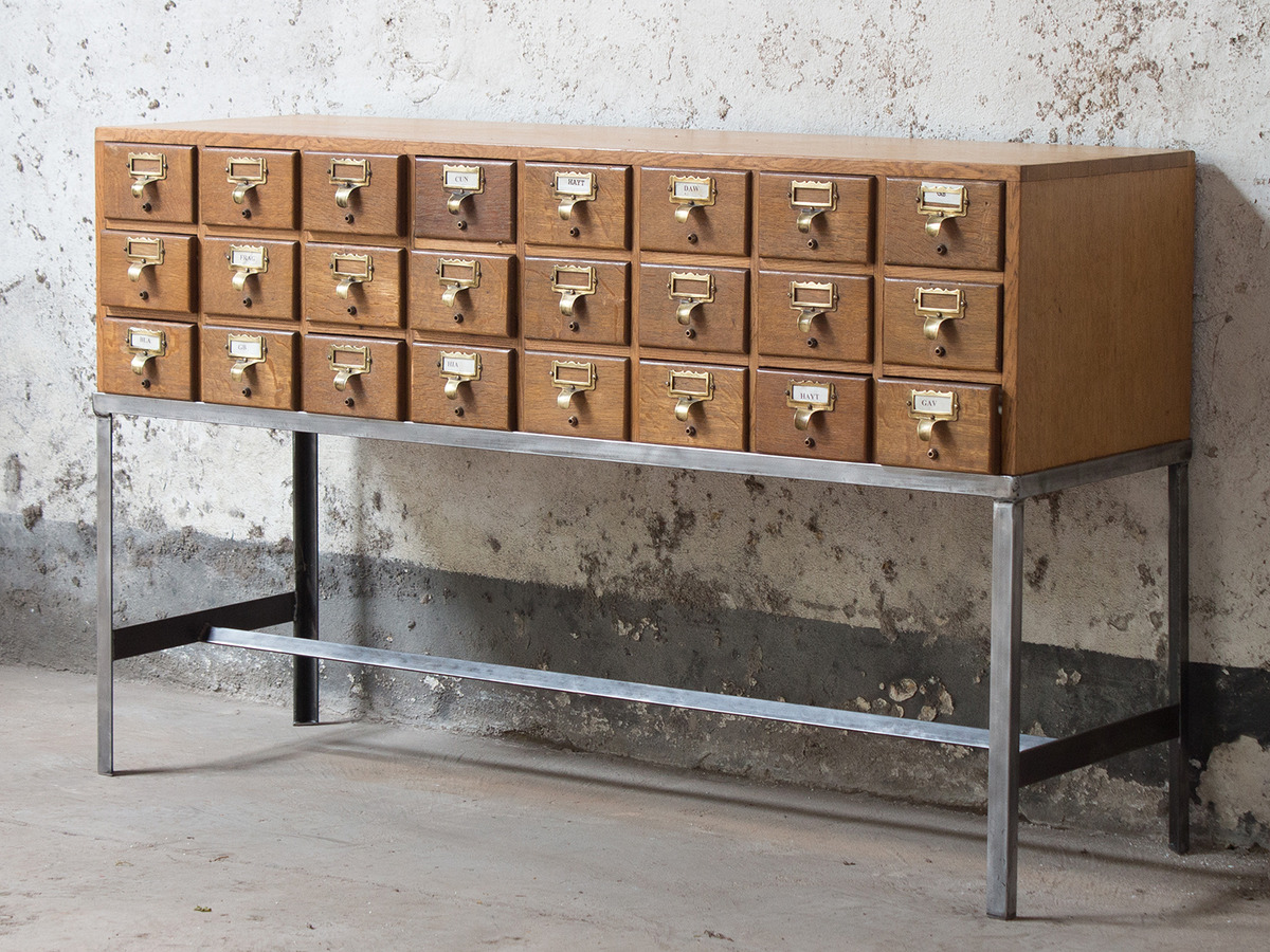 Beautiful Vintage Library Index Card Cabinet