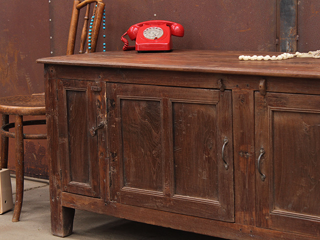 Vintage Low Rise Teak Storage Cabinet (D)