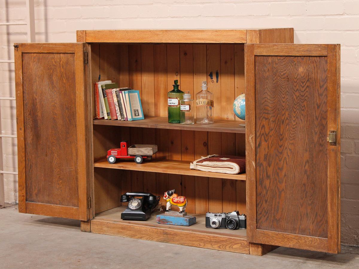 Vintage oak school cabinet sold scaramanga