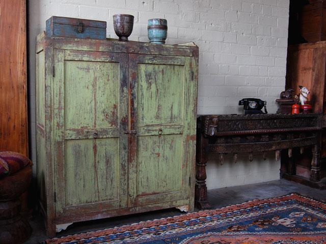 Vintage Green Cupboard 5