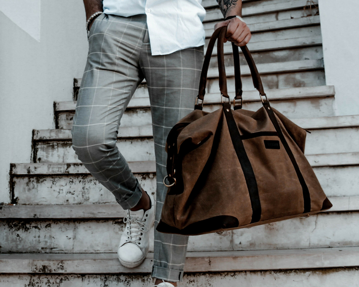 35a9dbef43 Canvas Holdall For Men - Weekenders - Scaramanga