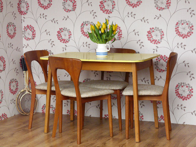 retro formica dining kitchen table 2 formica yellow 2