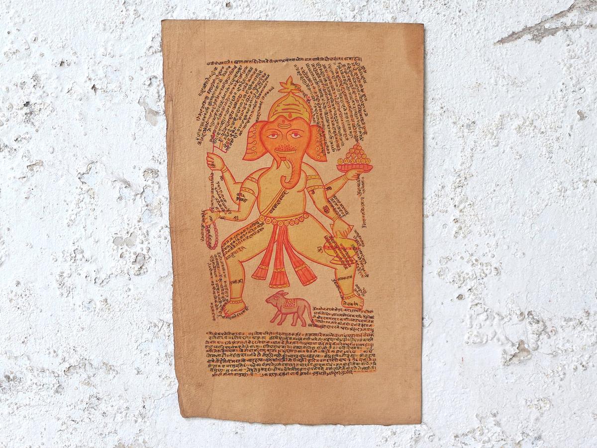 Hand painted ganesh wall art at scaramanga