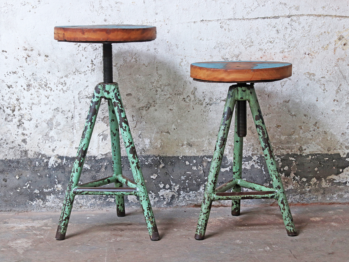 Fabulous Vintage Industrial Stool A Frame Bar Caraccident5 Cool Chair Designs And Ideas Caraccident5Info