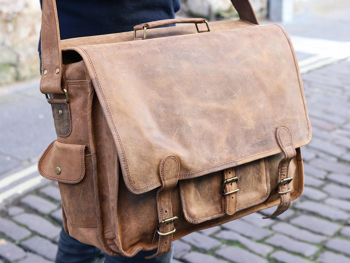 Large Overlander Mens Satchel Bag – Leather 18 Inch SATC12041 328cc636afffb