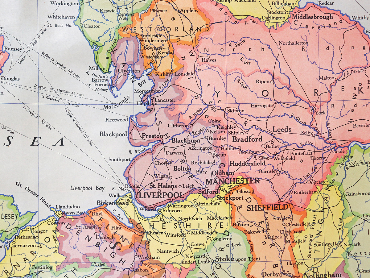 Www Map Of England.Old School Canvas Map England And Wales At Scaramanga