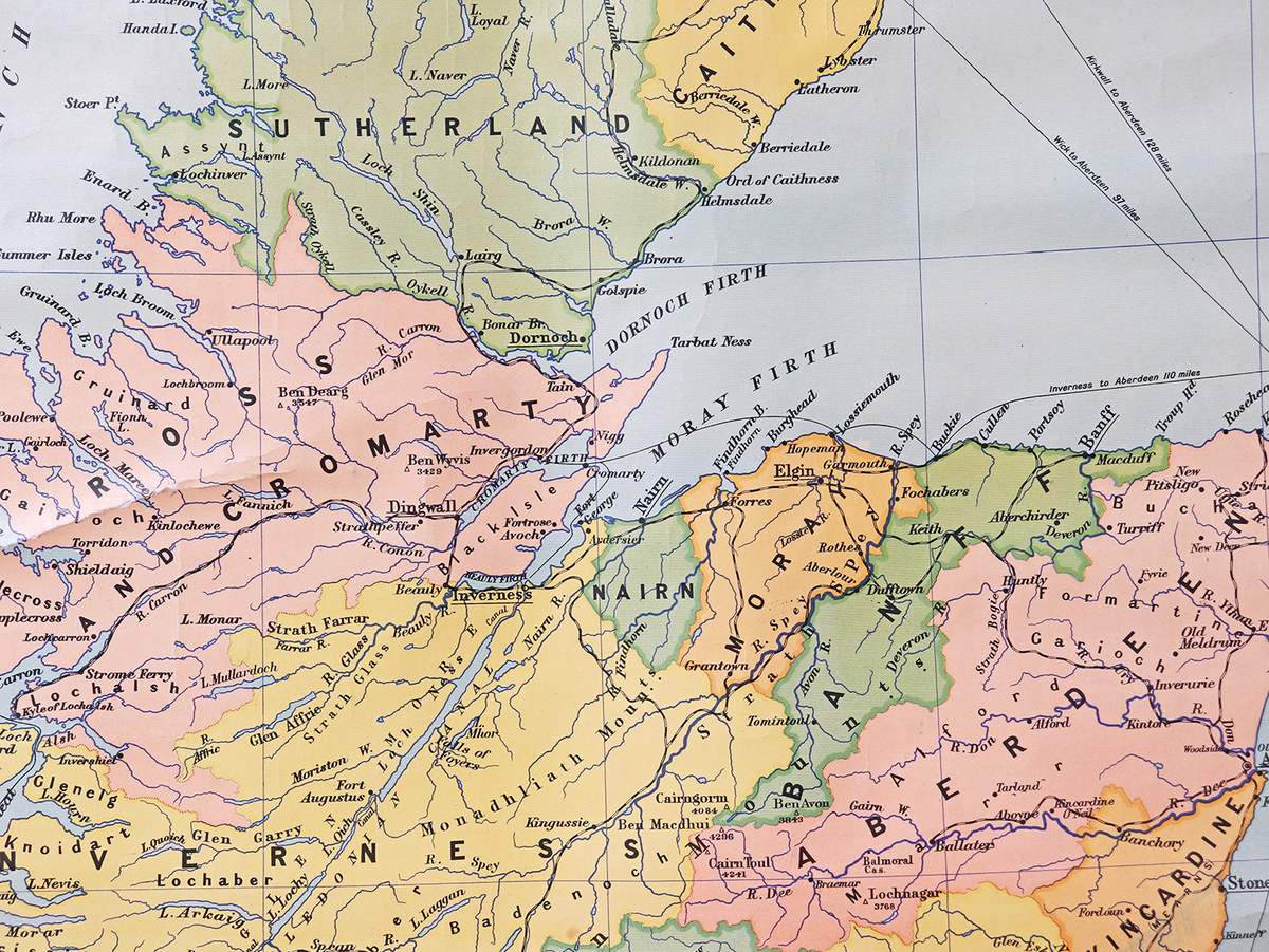 Old School Canvas Wall Map - Scotland | Scaramanga