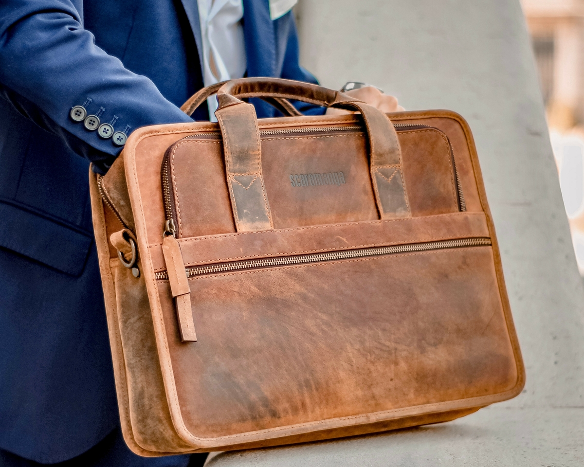 703e11736e Men s Citylander Leather Briefcase FLBG14010