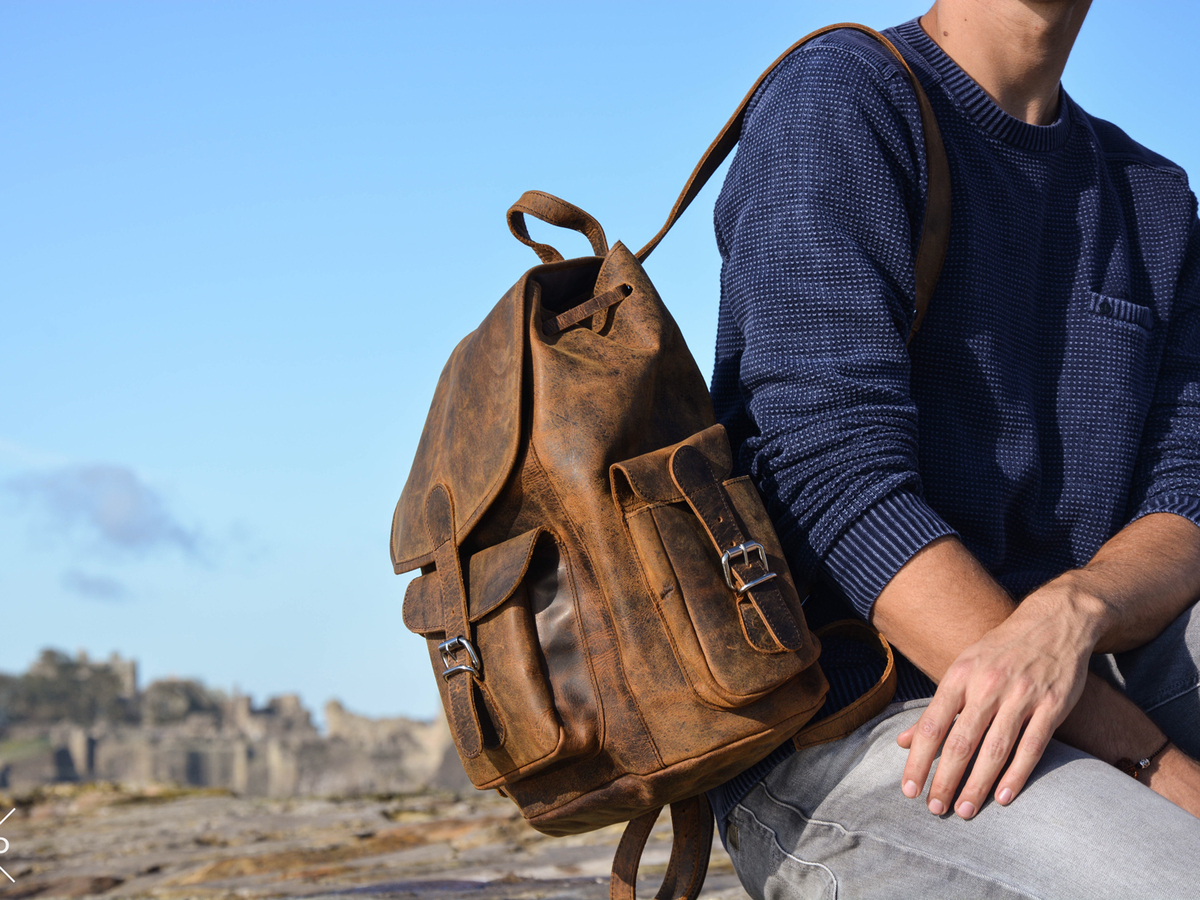 Leather Rucksack | Casual Backpacks | Free Delivery