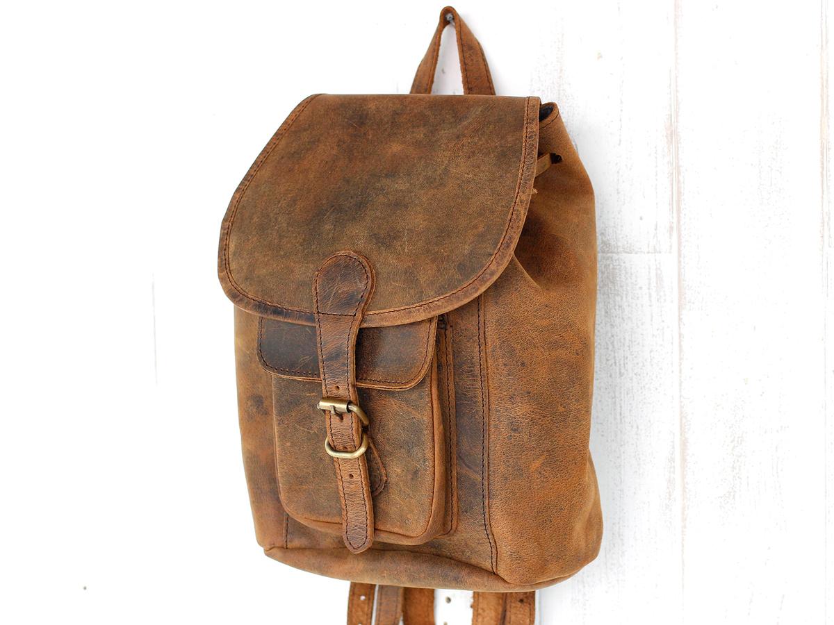 0b59794011a Mens Leather Backpack Mini at Scaramanga