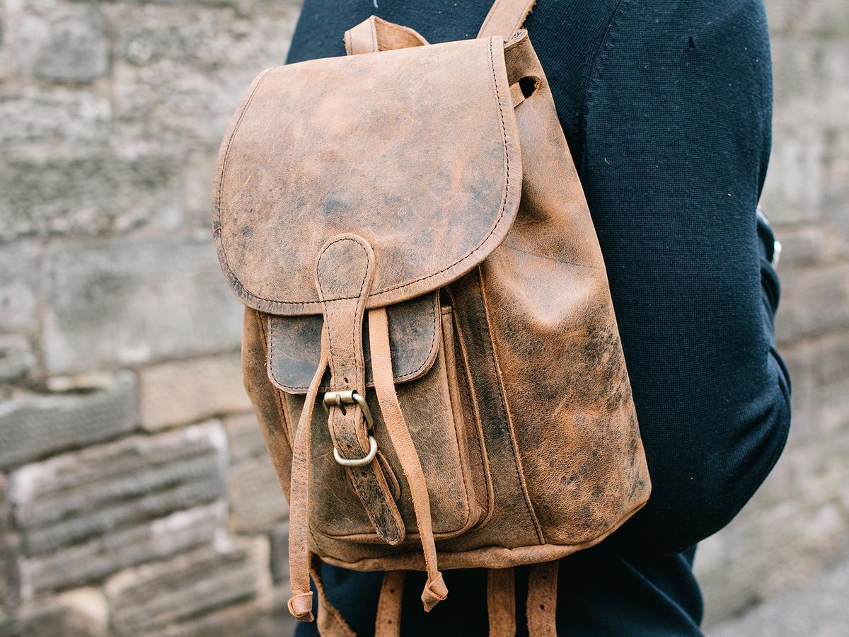 Mens Leather Backpack Mini - Leather Backpacks - Scaramanga