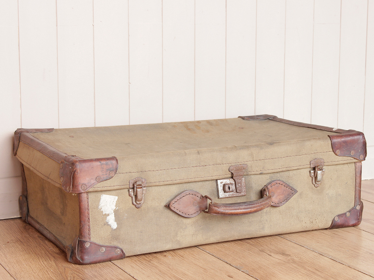 Authentic military suitcase scaramanga leather satchels for The vintage suitcase