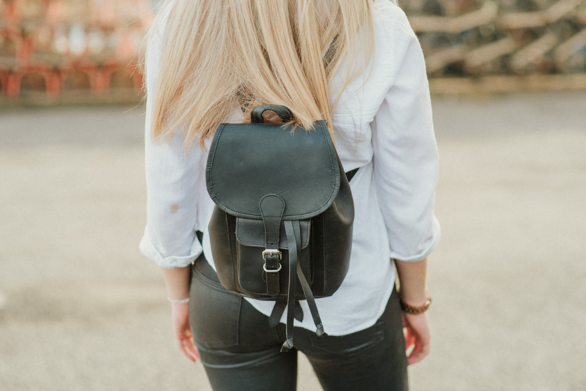 723c7e7d6bfda Black Mini Boho Leather Backpack - Sold - Scaramanga
