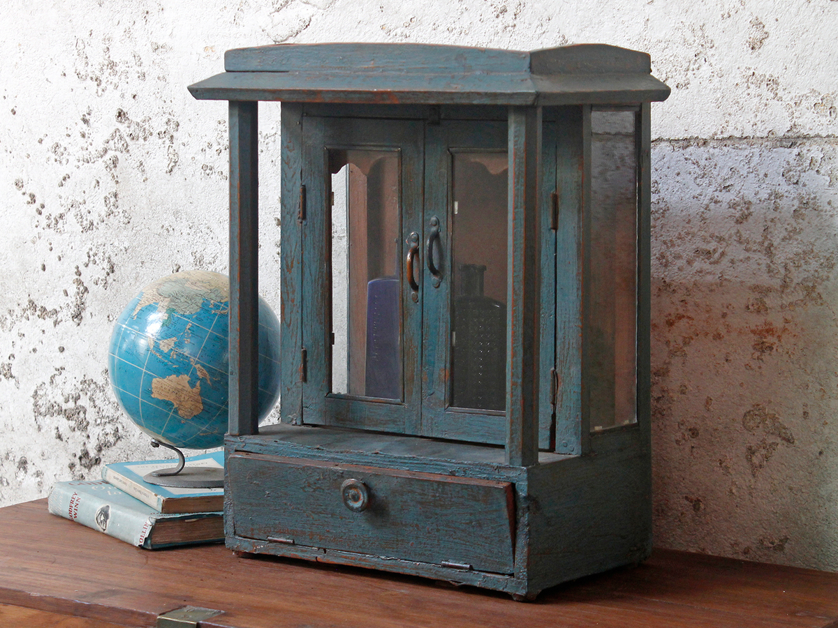 Blue Indian Temple Cabinet - Vintage Cabinets & Cupboards ...