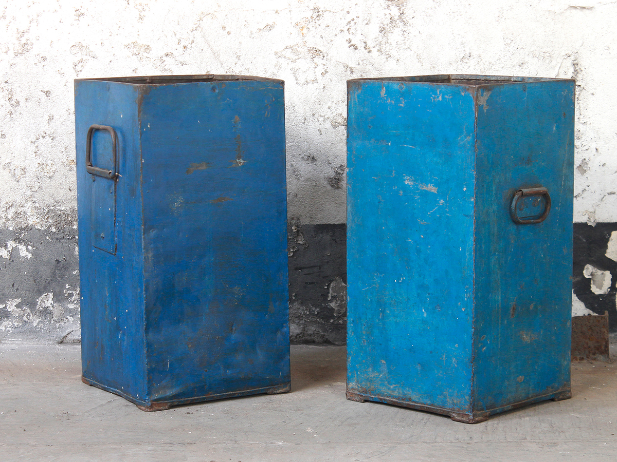 blue industrial metal storage bin thumbnail - Metal Storage Bins