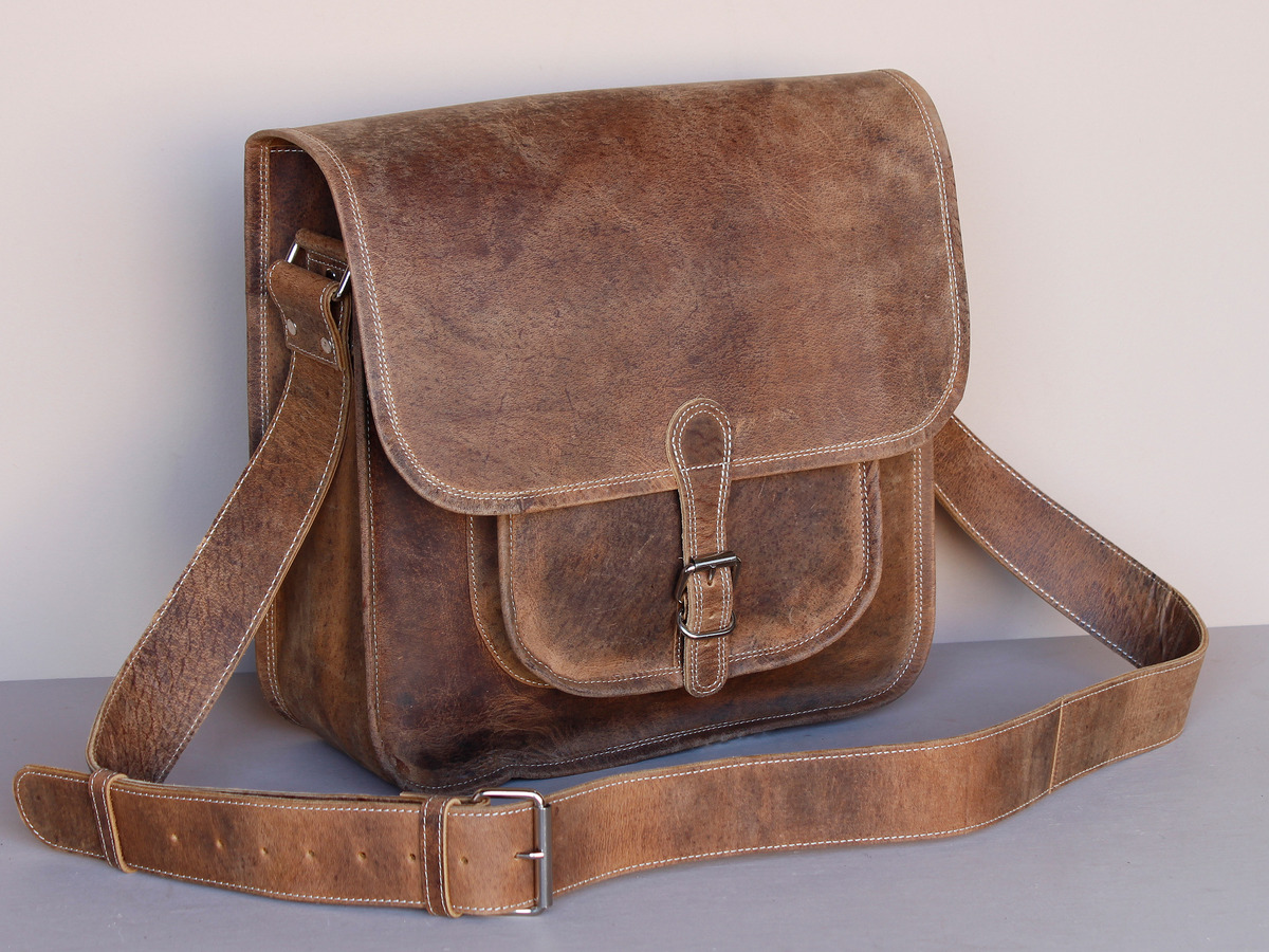 Boys And Girls Large Vintage Leather Saddle Bag - Sold - Scaramanga