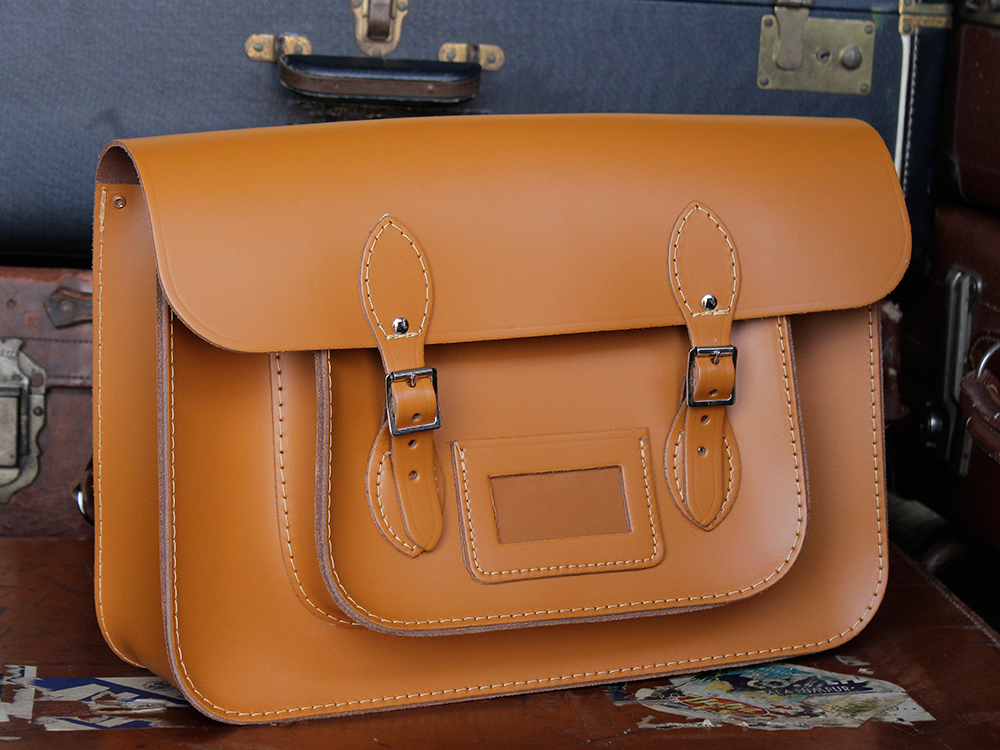 580897fe2a6e Classic London Tan Leather Satchel Backpack 15 Inch