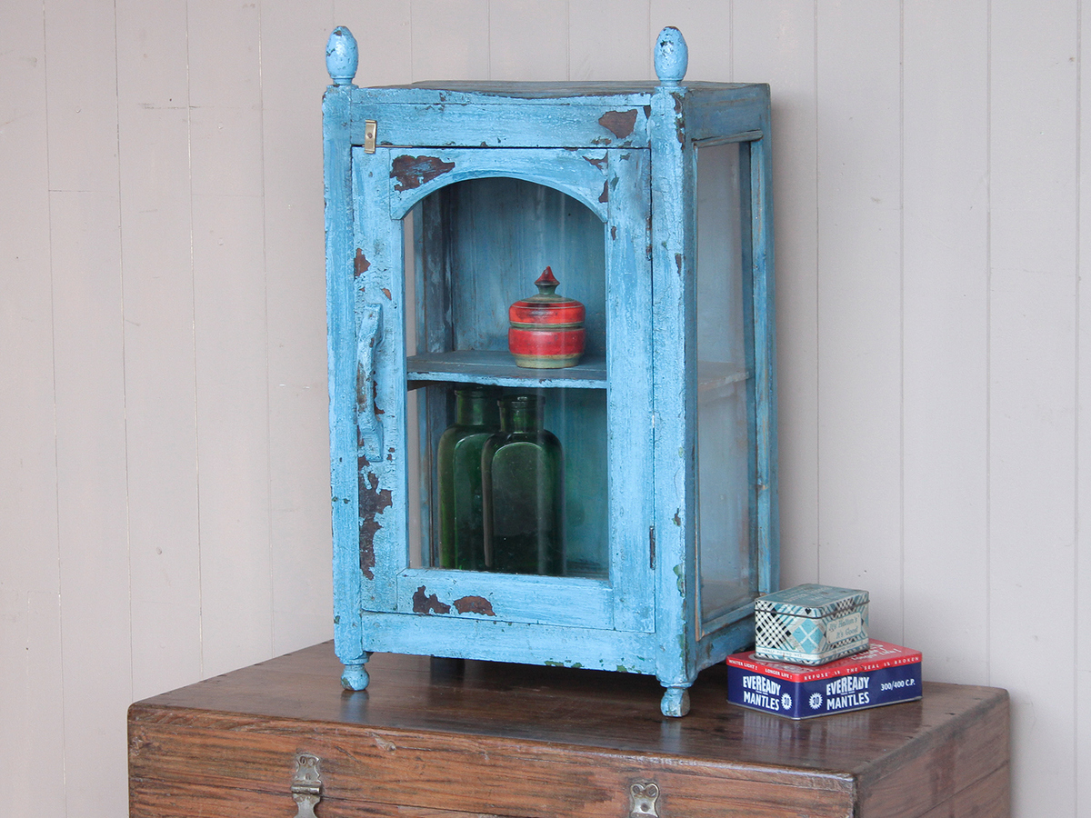 Blue Indian Temple Cabinet