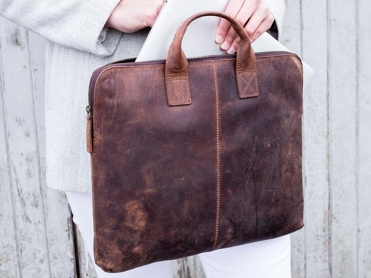 1dcb756c6ff1 Gorgeous Leather Laptop Bag For Women | Scaramanga