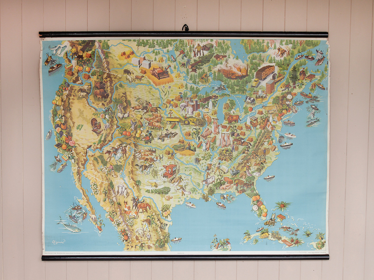 Original Old School Map of the United States - Sold - Scaramanga