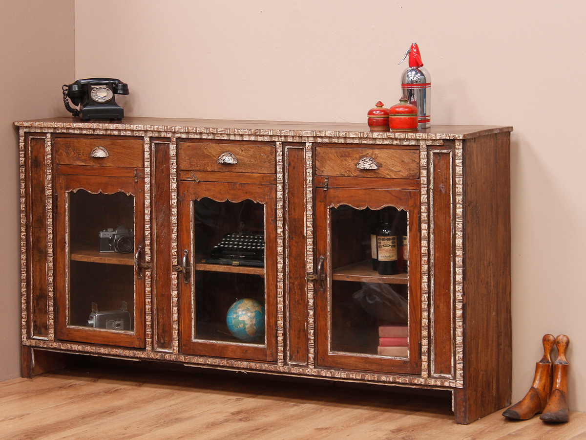 Antique Colonial Teak Sideboard - Scaramanga Leather Satchels ...