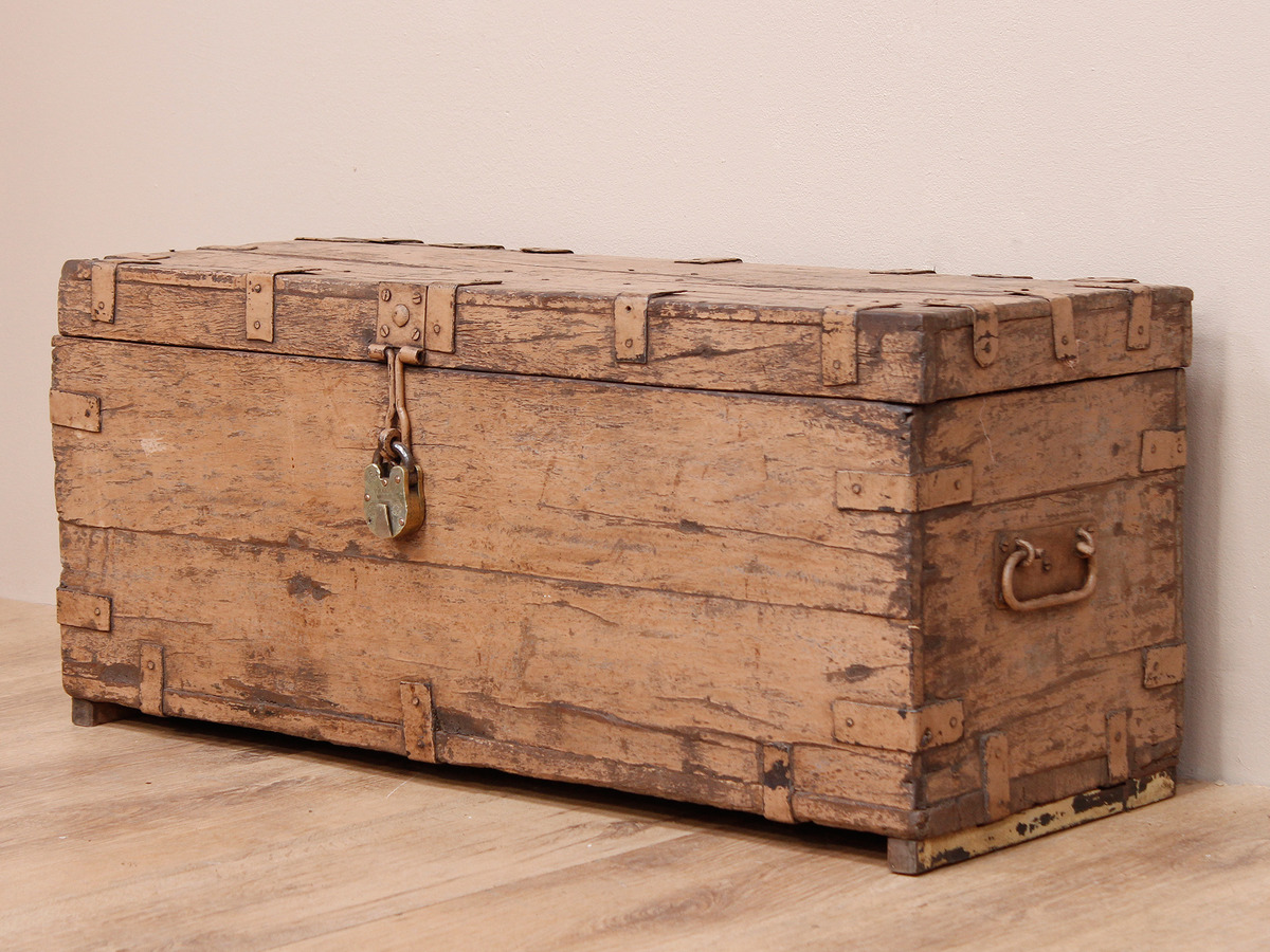 Old painted chest scaramanga leather satchels
