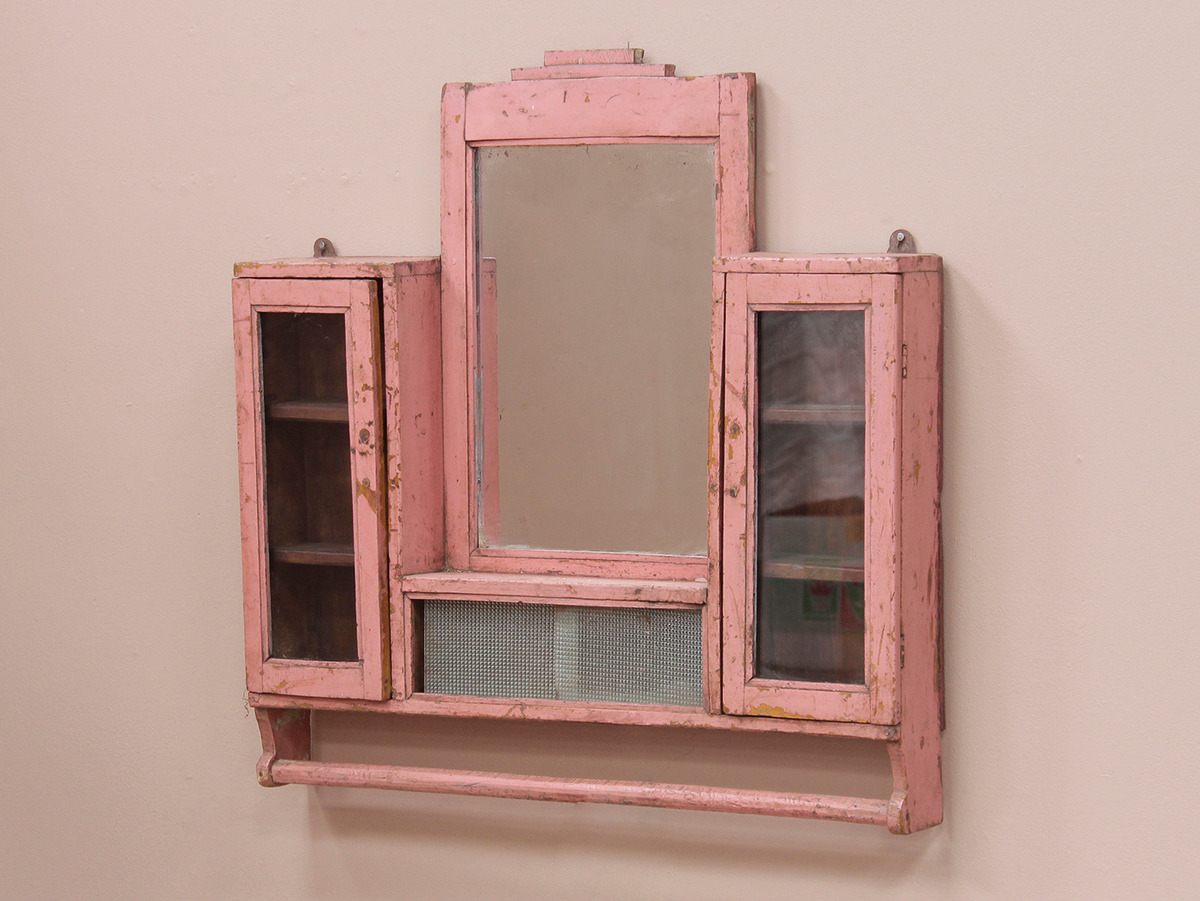Pink Wall Mirror Cabinet