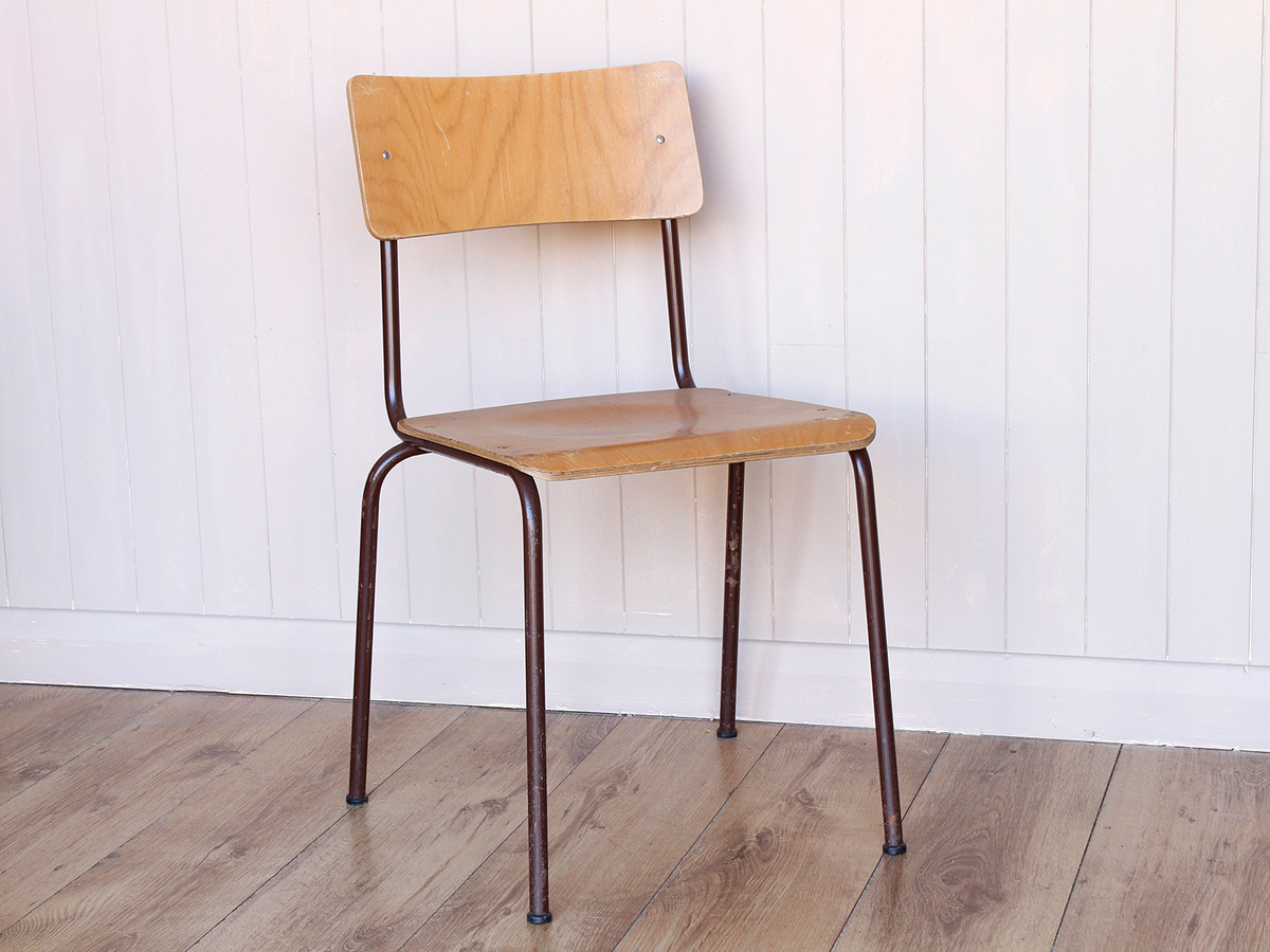 Wood Ply Stacking Chair Set Of 4 Scaramanga Leather