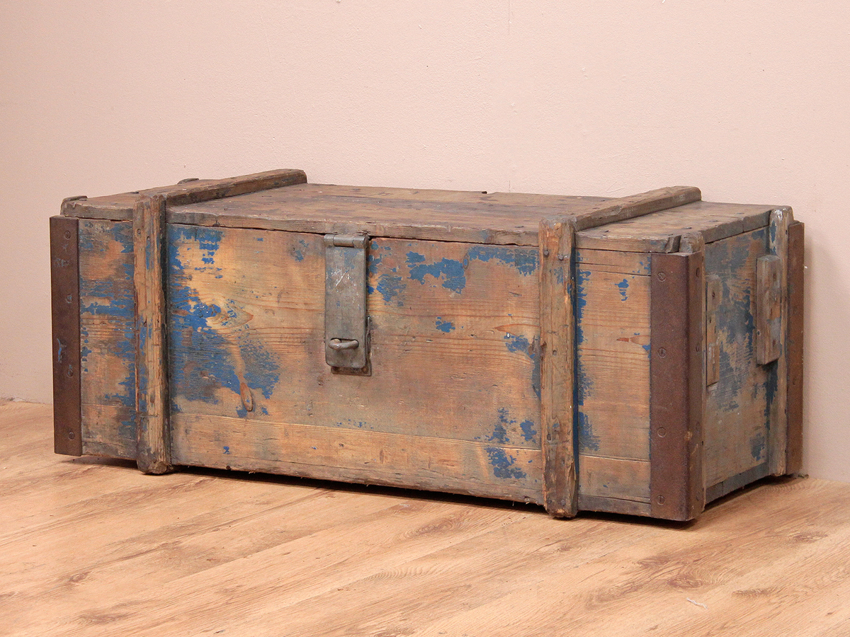 Old rustic storage chest wooden chests trunks