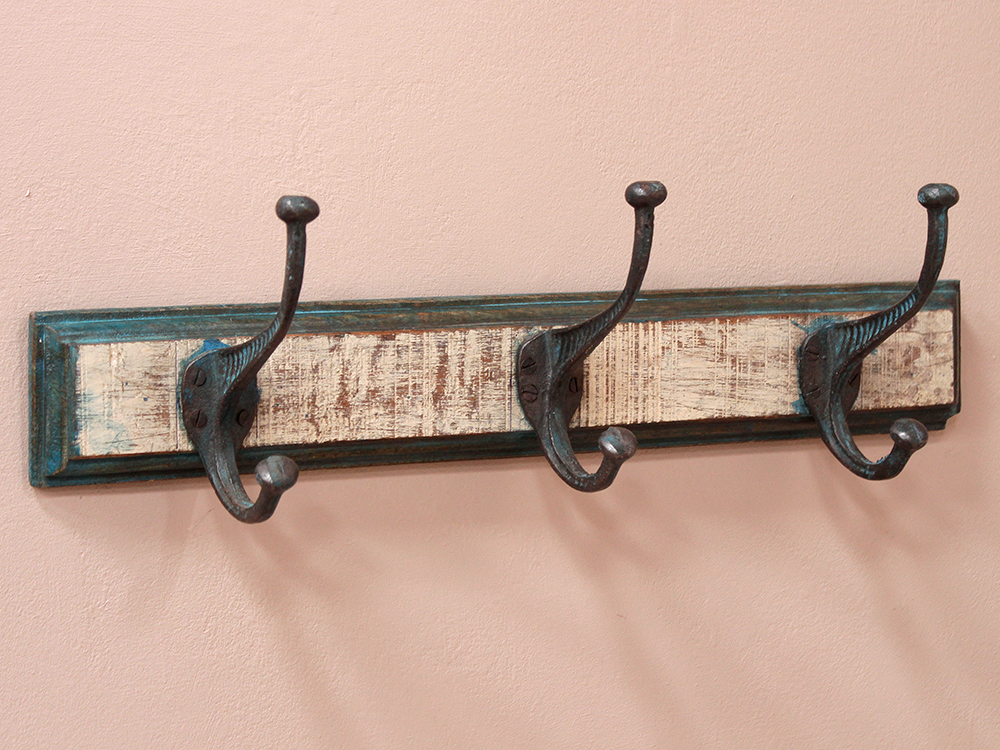 3 hook coat rack white sold scaramanga White wooden coat hooks