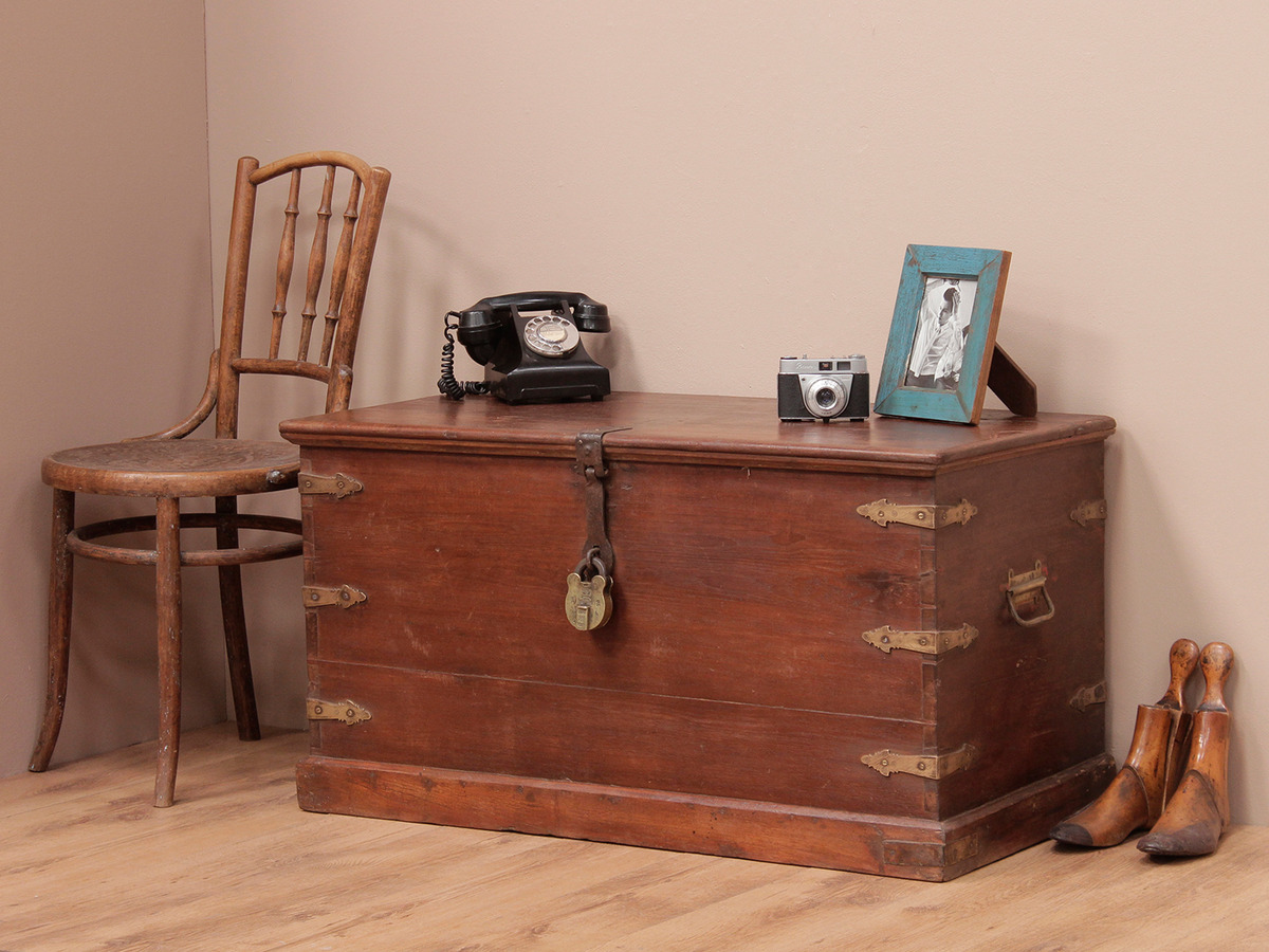 Vintage Wooden Chest ~ Antique wooden chest sold scaramanga