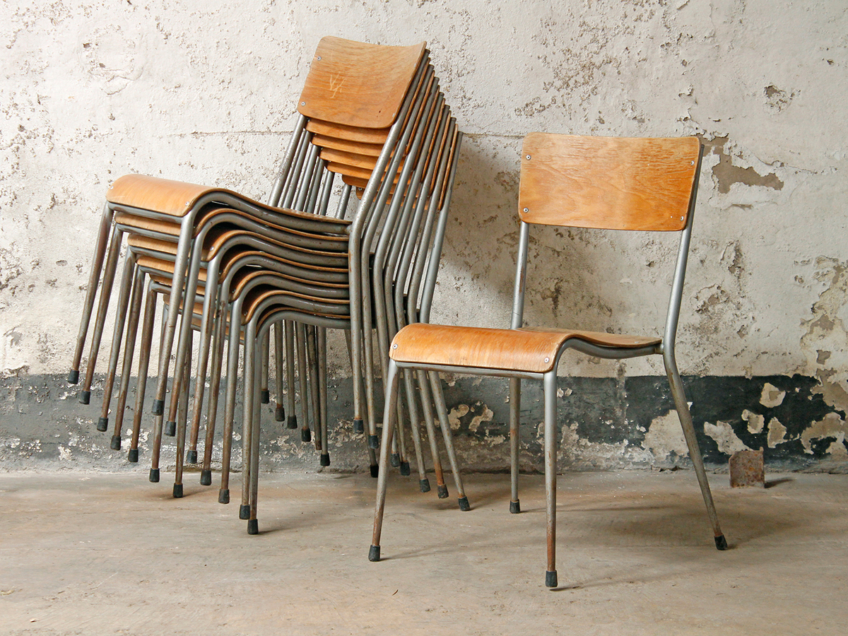 Vintage dual school chair sold scaramanga for Vintage retro chairs