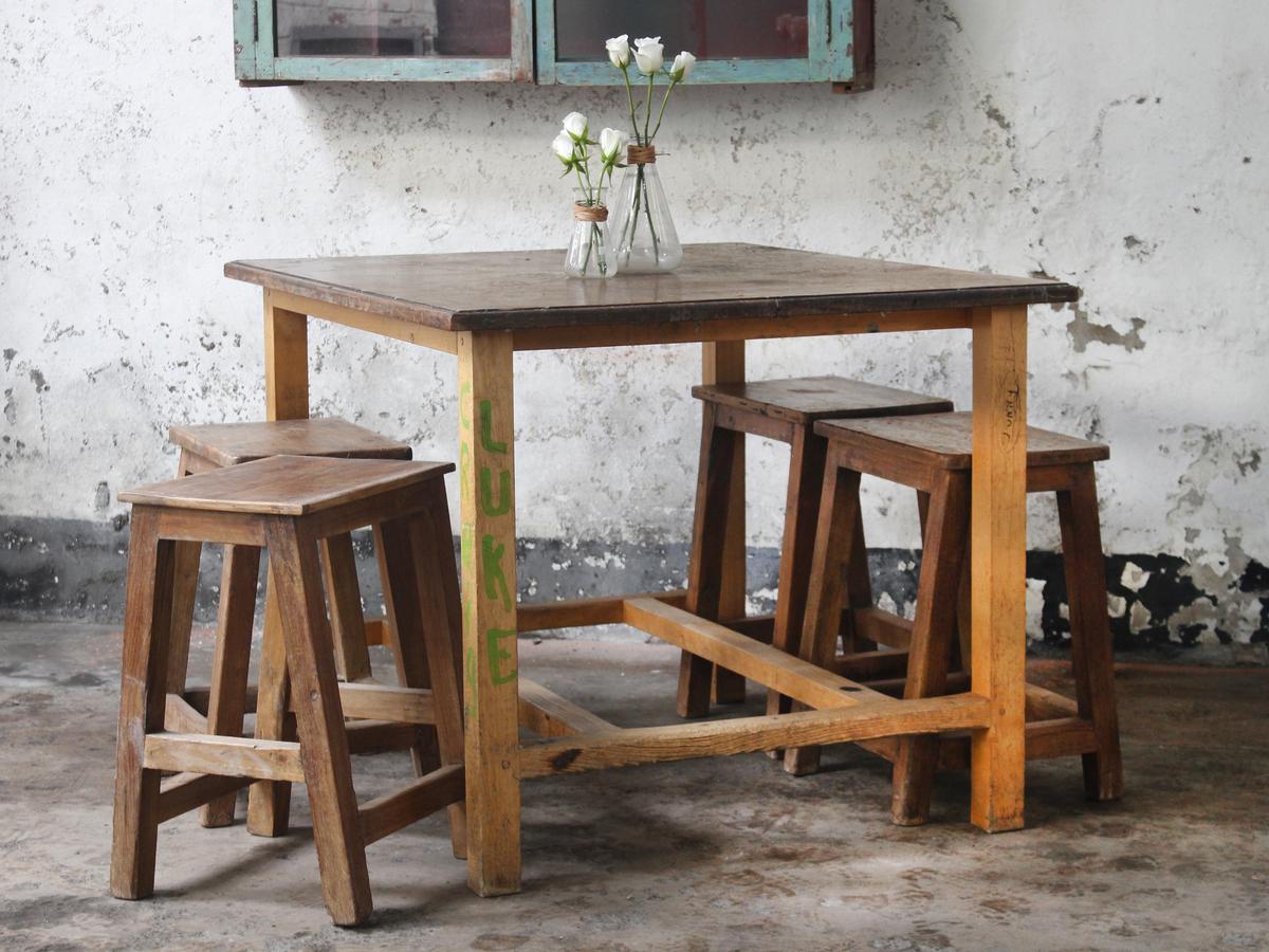 Vintage School Science Lab Tables By Esavian ESA Vintage Tables