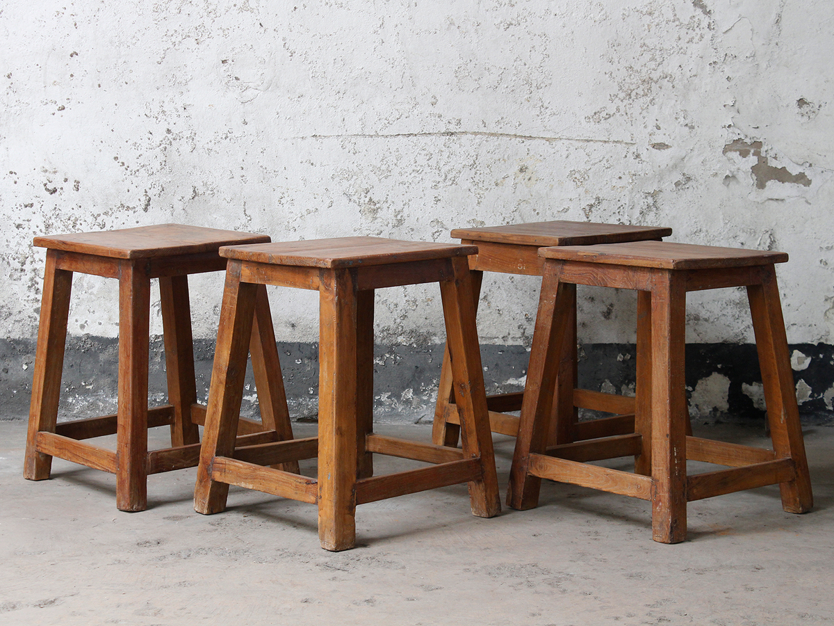 Old Wooden Stool ~ Old wooden stool for the home scaramanga
