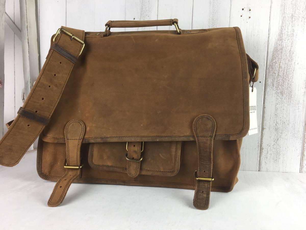 SECONDS Medium Overlander Leather Satchel 16 Inch - Sold - Scaramanga 3fc61db93c4a3