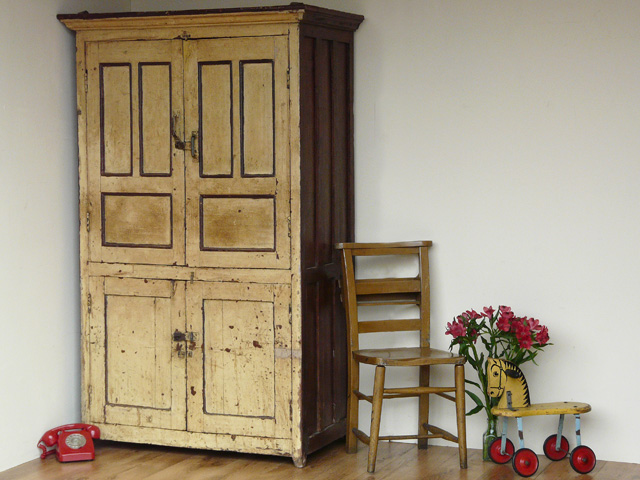 vintage wooden armoire 633 sold scaramanga. Black Bedroom Furniture Sets. Home Design Ideas