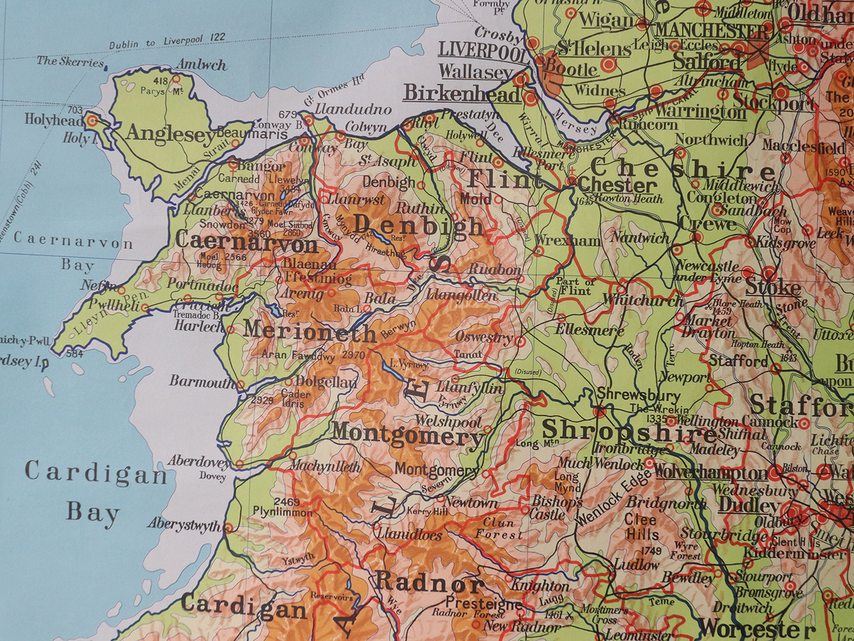 Map Of England Vintage.Large Vintage Map Of England And Wales