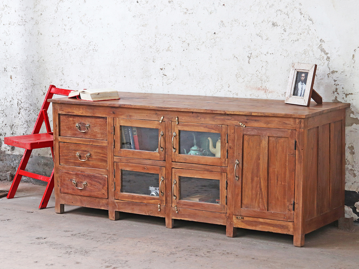 Large Vintage Sideboard Rustic Furniture Scaramanga