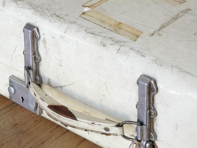 White Vintage Suitcase By Revelation 169 - Sold - Scaramanga