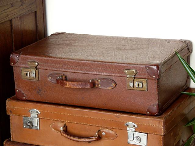 Brown Vintage Suitcase 187 - Sold - Scaramanga