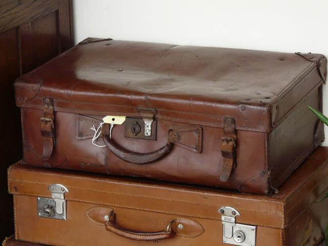 Brown Vintage Suitcase 189 - Sold - Scaramanga