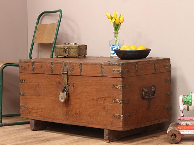 Wooden storage chest sold scaramanga